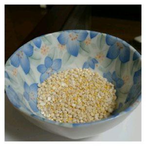 水に浸ける前の雑穀